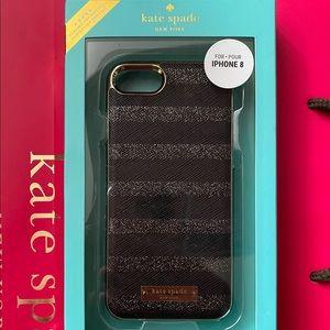 kate spade black, silver, gold iPhone 7/8 case